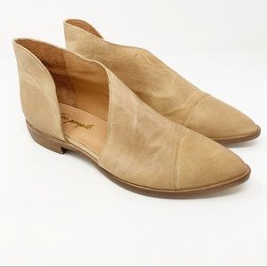 Free People Royale Flat Sz 38.5/8 Light Brown